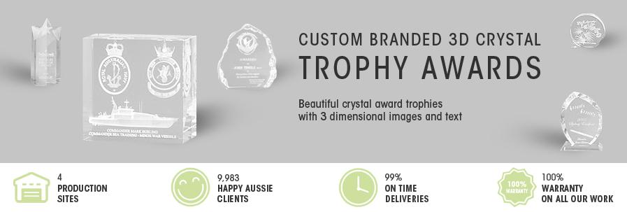 3D Crystal Trophy Awards