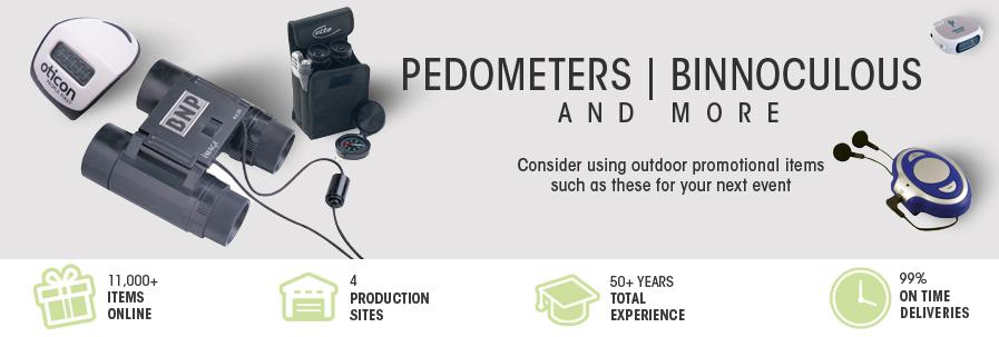 Pedometers & Binoculars