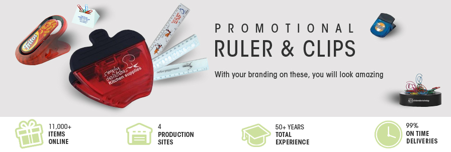 Promotional Rulers & Clips