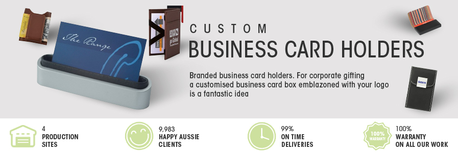 Promotional card holders business card boxes australia online reheart Gallery
