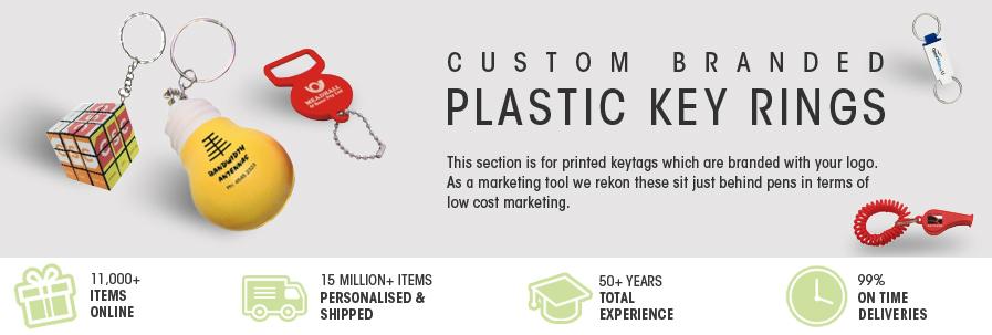 Plastic Promotional Keyrings | Printed Keychains | Australia