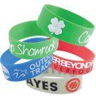 2.5cm Wide Custom Silicone Wristbands