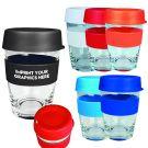 340ml Glass Reusable Cups Bulk Branded