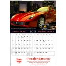 Custom Made Wall Calendar Sports Cars