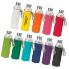 Glass Promotional Drink Bottle with Sleeve
