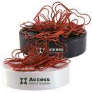 Branded Merchandise Heart Clips & Magnet Base