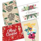 Recycled Promo Christmas Cards