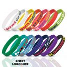 Rubberised Wristbands With Embossing