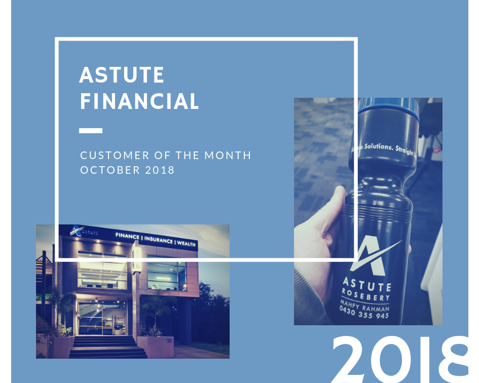 October Customer of the Month 2018