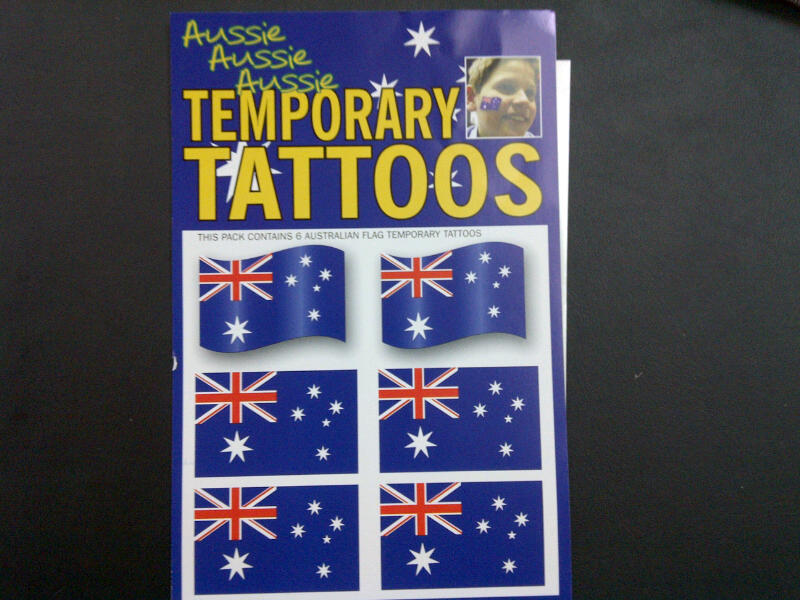 Aussie Temporary Tattoos