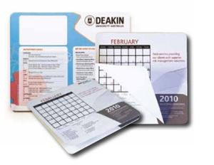 Calendar mouse mats