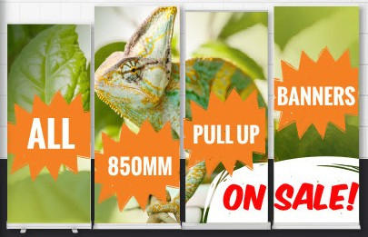 Up to 15% off Customised Pull Up Banners