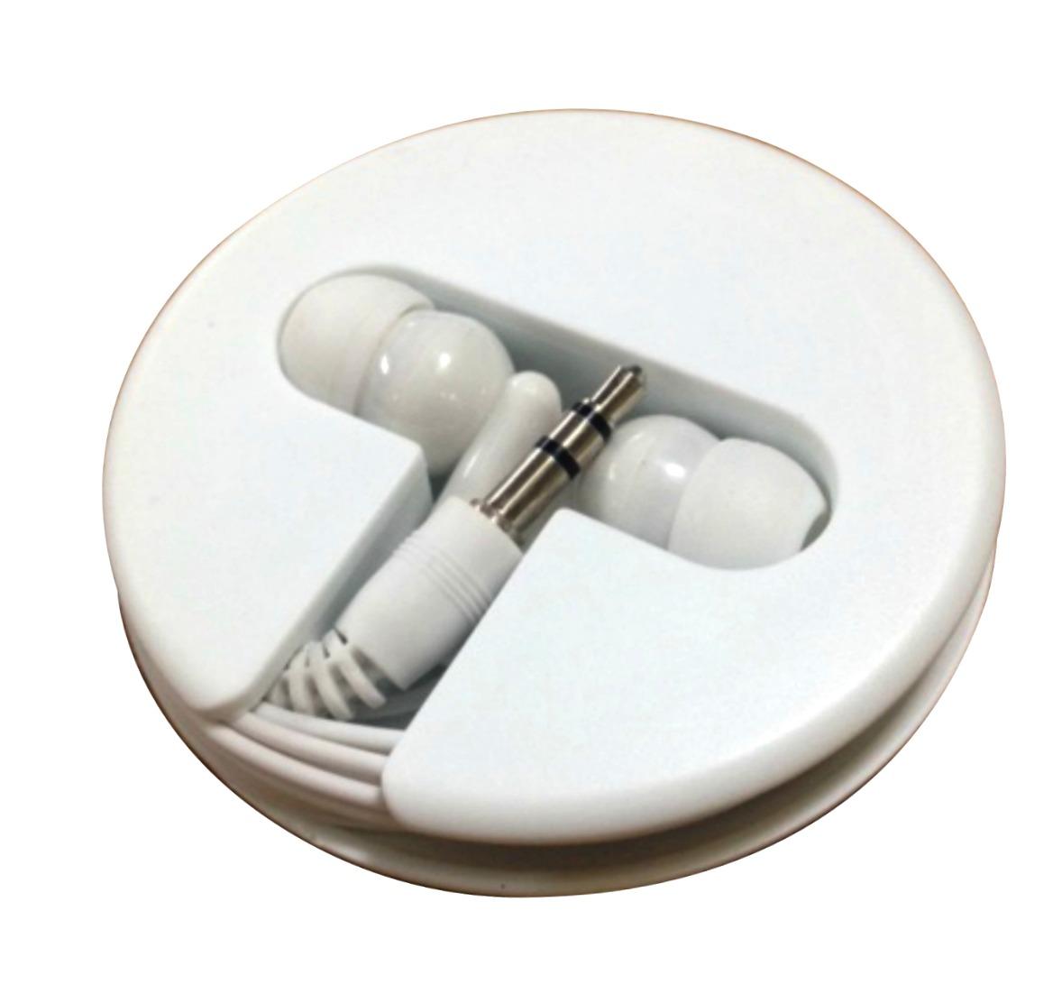 branded earphones in case