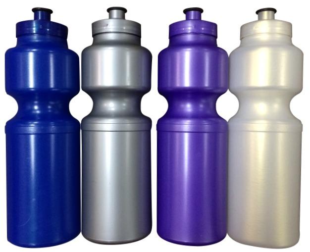 branded metallic drink bottles