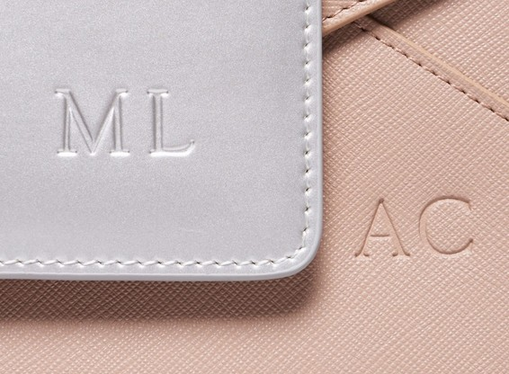 embossed promotional leather products