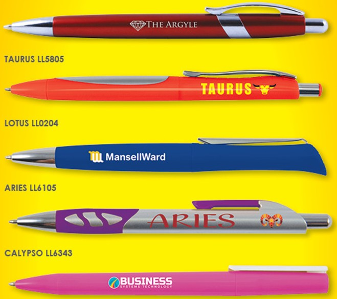 Promotional pens specials extended to April 2018