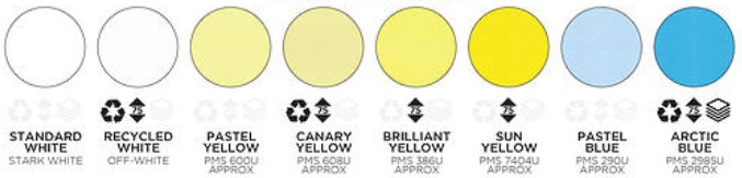 other paper colour options