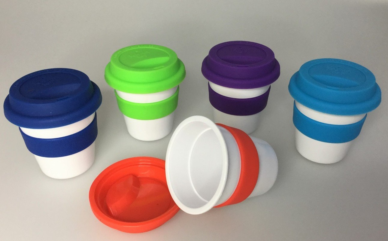 Cheap and Colourful Reusable Espresso Cups